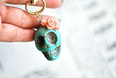 Hey, I found this really awesome Etsy listing at http://www.etsy.com/listing/111000014/doris-key-chain-day-of-the-dead-dyed