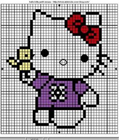 Hello Kitty with Bird Cross Stitch Chart
