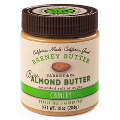 Barney Butter Bare Crunchy Almond Butter 10 Oz Jars - Pack Of 4