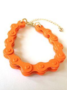 Bike Chain Bracelet unique recycled bracelet by NOUNOUTheArtisan, $13.00