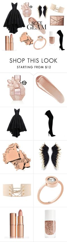 """""""Christmas Party Makeup Contest"""" by adrianwilliams-i ❤ liked on Polyvore featuring beauty, Viktor & Rolf, NARS Cosmetics, HUISHAN ZHANG, Bobbi Brown Cosmetics, Mignonne Gavigan, Michael Kors, Charlotte Tilbury and Rebecca Minkoff"""