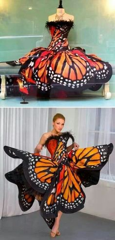 In Catching Fire- the character Effie wears a fabulous butterfly creation: