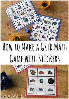 Math Grid Games with Stickers is the perfect way to teach preschoolers basic math skills including counting & one-to-one correspondence. | Stir the Wonder #STEM #preschoolmath #homeschool