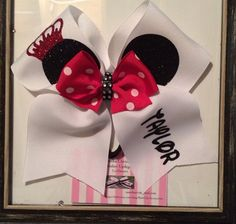 Disney Cheer Bow by BowChicAccessories on Etsy