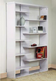 Puro White Gloss Bookcase