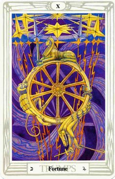 'Fortune' tarot card from the Thoth deck by Aleister Crowley. -- http://All-About-Tarot.com