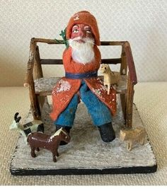 German Christmas, Antique Christmas, Lake Oswego, Spun Cotton, Old Things, Santa, Antiques, Holiday Decor, Ebay