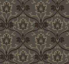 grey/taupe damask wallpaper