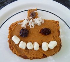 Happy Healthy Halloween!! Pumpkin Butter Pumpkin Toast.
