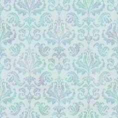 TOT47141 Blue Tiedye Modern Damask - Svetlana - Totally for Kids Wallpaper by Chesapeake