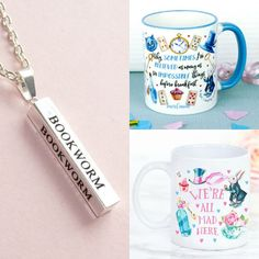 With Love for Books: Bookworm Necklace & Alice in Wonderland Mugs Givea...