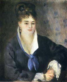 Lady in a Black Dress by @artistrenoir #impressionism