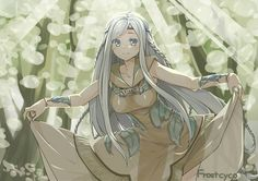 Maiden with Eyes of Blue, the one who protects Blue-Eyes White Dragon. She should be given a name.