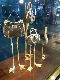whimsical and eye-catching handbag display