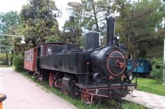 The Municipal Railway Park of Kalamata - the unique open-air museum in Greece, known worldwide to all Railway enthousiasts. Train Engines, Greece Travel, Locomotive, Acre, Greek, Around The Worlds, Museum, City, Trains