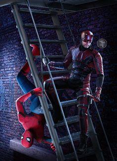 Spidey and Daredevil by Timetravel6000v2.deviantart.com on @DeviantArt