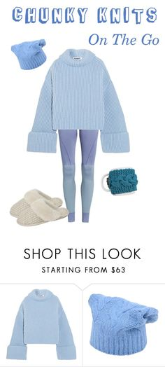 """CHUNKY KNITS: On The Go"" by friendliness-matters ❤ liked on Polyvore featuring Jil Sander, Stefanel, Just Sheepskin and go"
