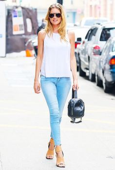 The 3-Piece Outfit Loved by Rosie Huntington-Whiteley and More via @WhoWhatWear