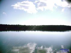 from my kayak on Big Blue Lake