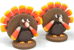 Here's a turkey that won't make you sleepy! These fun turkey cookies use candy, cookies and icing to make a whimsical treat for Thanksgiving. The kids will gobble this up!