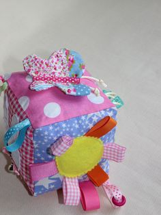 Pink baby Block / Plush baby girl block / Soft by PopelineCo, €24.95