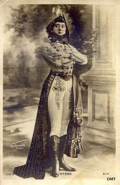"labelleotero: "" Happy birthday to the real Belle Otero! Born this day in "" For more about La Belle Otero (x) Belle Epoque, Children Of The Revolution, Divas, Comedia Musical, Folies Bergeres, Blazers, Spanish Dancer, 1900s Fashion, Romantic Pictures"