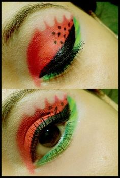 Watermelon eyeshadow...I wouldn't mind trying this!