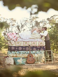 seriously love this with all of the quilts & mattresses.  Quite original twist on a classic fairy tale.
