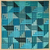 modern quilt - love the turquoise
