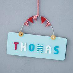 personalised wooden button door plaque by littlebumpkins | notonthehighstreet.com
