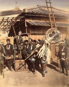 Japanese firefighters. K&J Jacobson | 19th-century photography