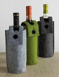 felt wine sleeves