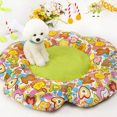 Large Dog Mat Flower Design Dog Bed Large Size 80cm*50cm Dog Bed in Large Size 80cm*50cm, suitable for small to large pets enjoy their free time. The high-end PP cotton padded this thick dog beds to ensure a comfort feeling to the dogs and cats.  Browse All of our dog bed at megoopet.com. get the OEM and wholesale price, please freel free to email our una@megoopet.com