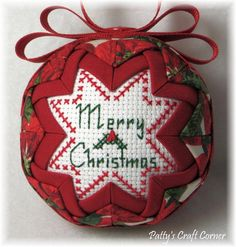 Quilted Keepsake Ornament Merry Christmas / by PattysCraftCorner