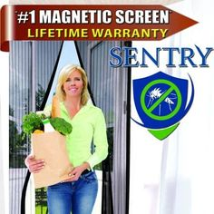 Magnetic Screen Door Fits Doors Bug Screen Many Sizes Colors Full Frame Velcro Premium Quality Tough Durable Wont Fall Apart Like Magic Mesh Screen Door ** You can find out more details at the link of the image.