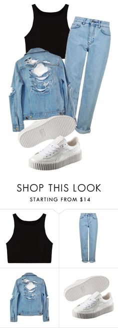 """Untitled #129"" by dariana-stoiu on Polyvore featuring Topshop, High Heels Suicide and Puma"