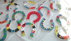 Paint horseshoes - cute craft idea for horse themed, petting zoo/farm birthday party