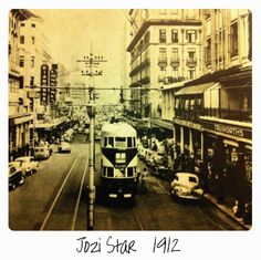 Johannesburg tram in Ellof street Johannesburg City, City Boy, Historical Pictures, African History, The Good Old Days, Back In The Day, Old Photos, Worlds Largest, Nostalgia