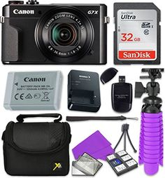 Canon PowerShot G7 X Mark II Wi-Fi Digital Camera with Sandisk 32 GB SD Memory Card + Extra Battery + Tripod + Case + Card Reader + Cleaning Kit | Deals On Cameras