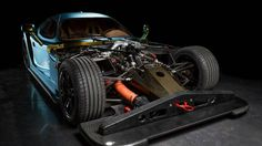 Panoz Esperante GTR-1 without a hood shows how complicated this car must be to produce