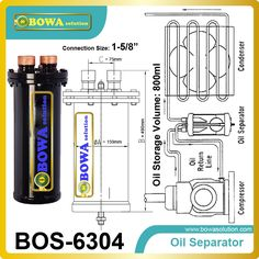 96.90$  Buy now - http://ali840.worldwells.pw/go.php?t=32618075594 - Demountable Oil Separator suggested with Non oil returning evaporators such as the flooded types 96.90$