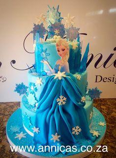 Frozen birthday party themed cake , Elsa cake www.annicas.co.za