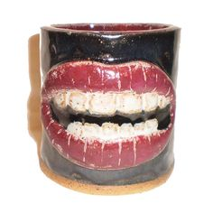 Lips Cup  Handbuilt slab mug inspired by Rocky Horror by aberrantceramics, $30.00