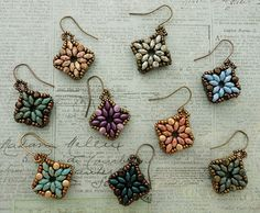 Linda's Crafty Inspirations: Playing with my beads...Tara Bracelet Motif Earrings