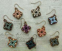 Linda's Crafty Inspirations: Playing with my beads...Tara Bracelet Motif Earrings