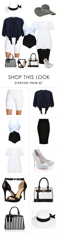 """""""263. One-piece Bathingsuit with extras."""" by kristina-lindstrom ❤ liked on Polyvore featuring Jessica Simpson, M&Co, River Island, Zizzi, Lipsy, MICHAEL Michael Kors, IMoshion, Boohoo and plus size clothing"""