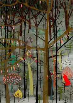 An illustration of jungle trees - Anne Wilson