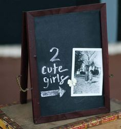 Chalkboard Easel from Jenni Bowlin Studios.  Just one of their wonderful new releases!