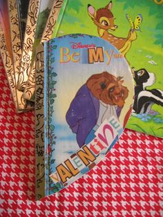 Altered books for kids with old Golden Books