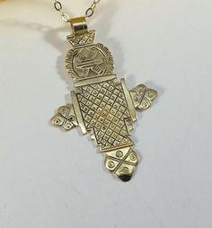 Vintage Anhänger - Kreuz Silber 925 Äthopien Afrika orthodox SK1251 - ein Designerstück von Atelier-Regina bei DaWanda